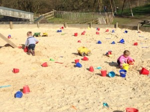 A sandpit to ourselves