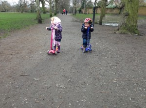 Scooting in the park