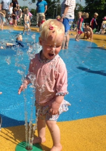 Wet Bollie at Wimbedon Park Splash Park