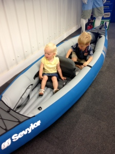 The Terrorists in a boat at Go Outdoors