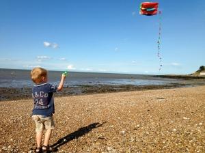 Kite flying in Whitsable